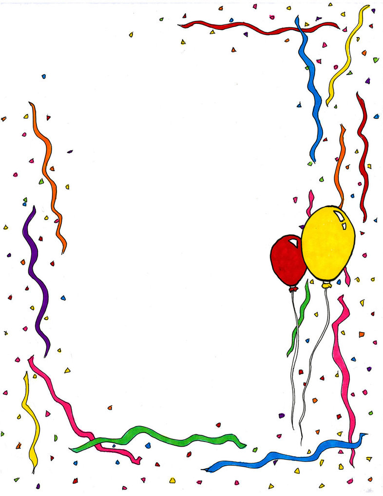 Borders Birthday Party Clipart - Clipart Kid