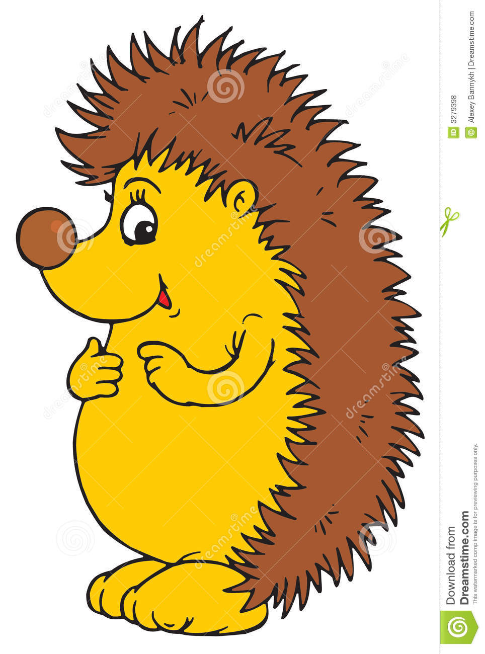 Silly Hedgehog Character Royalty Free Stock Photos   Image  3279398