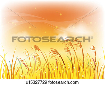 Stock Illustration   Wheat Field  Fotosearch   Search Vector Clipart