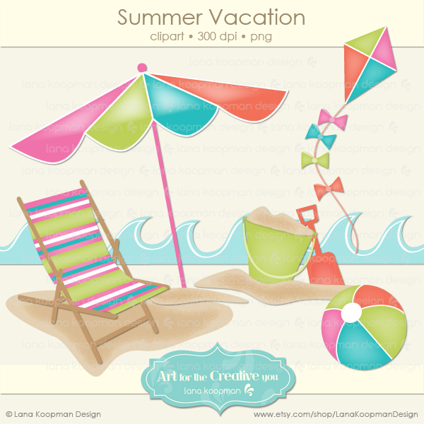 Summer Digital Clipart Freebie   Shareatopia