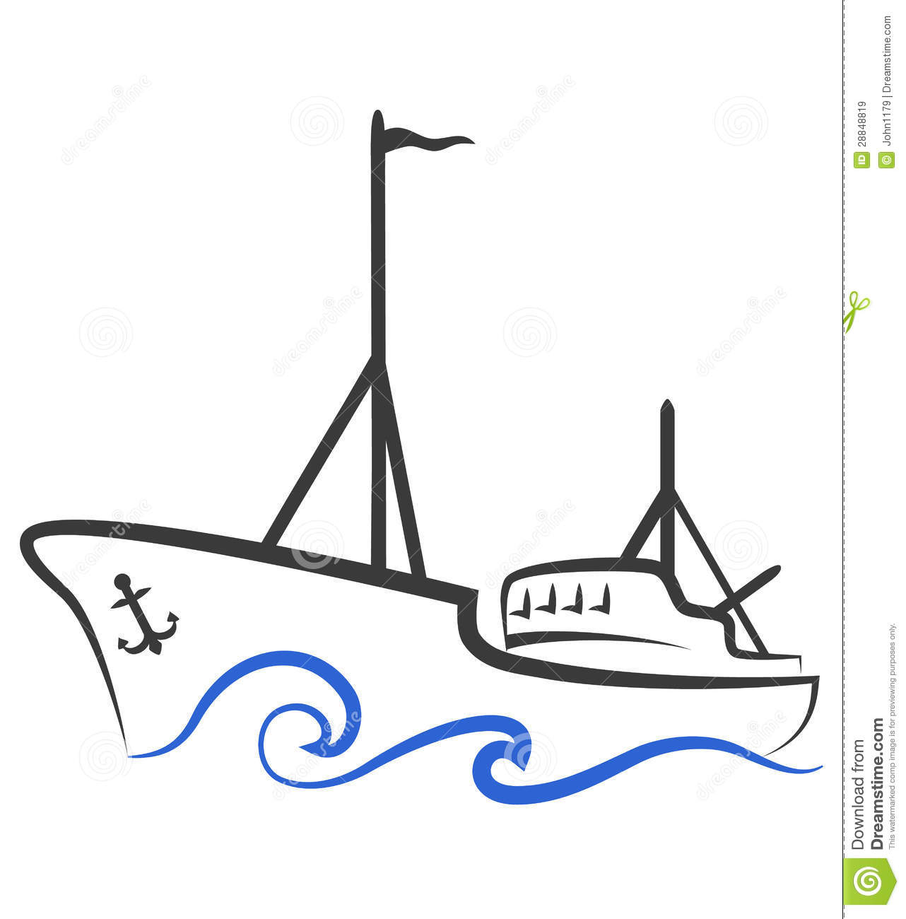 логотип для моторной лодки