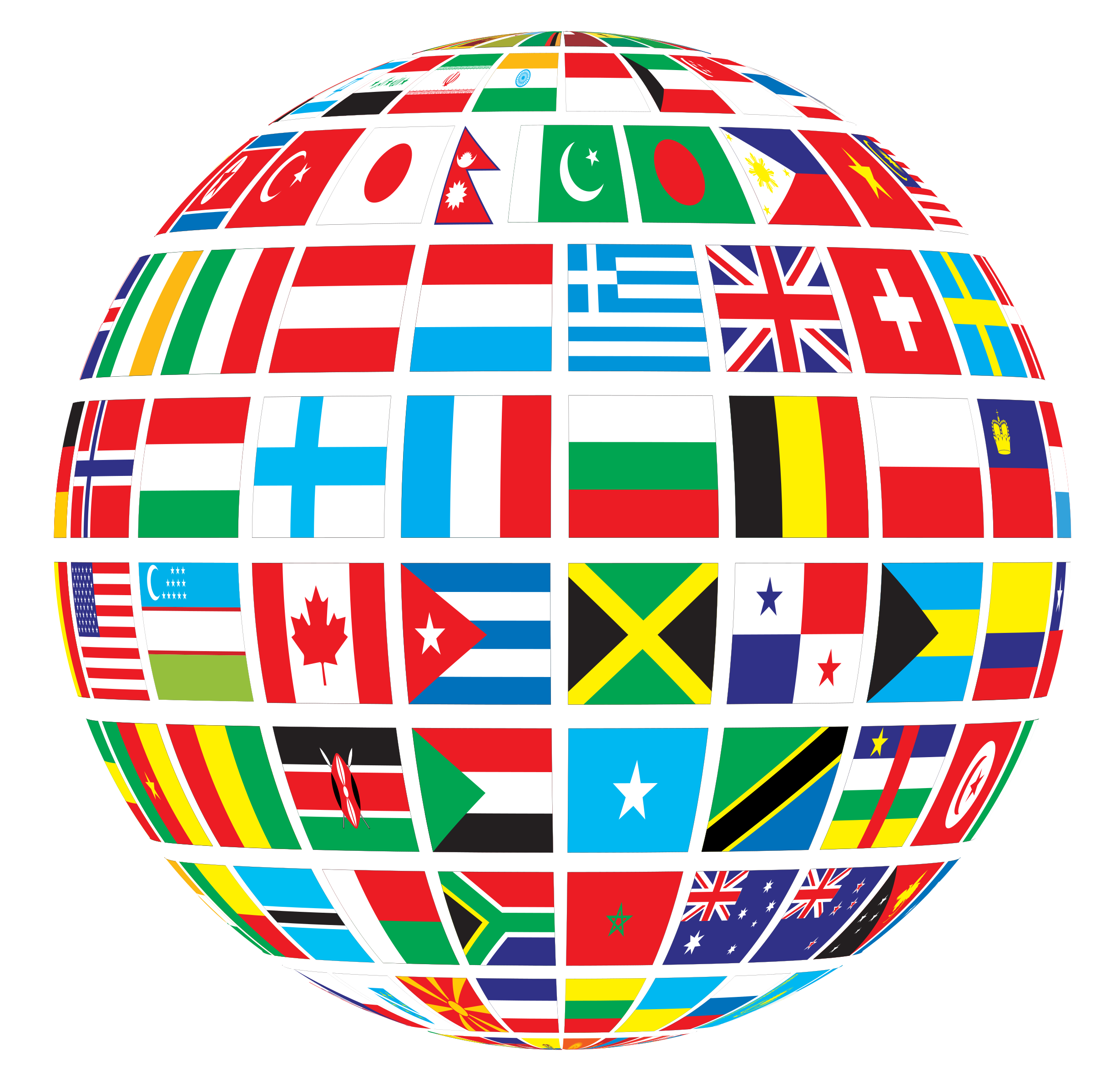 World Flags Clipart - Clipart Kid