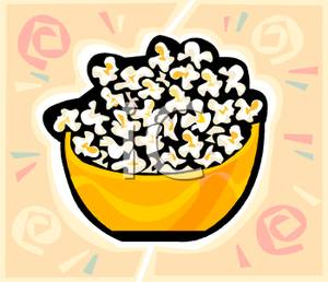 Bowl Of Popcorn   Clipart