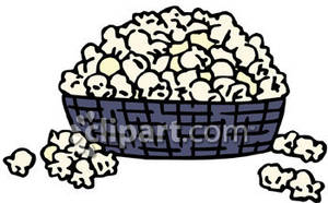 Bowl Of Popcorn   Royalty Free Clipart Picture