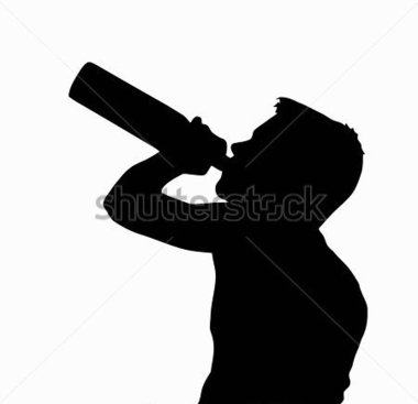 Getr Nke   Teen Boy Silhouette Minderj Hrige Alkohol Aus Flasche