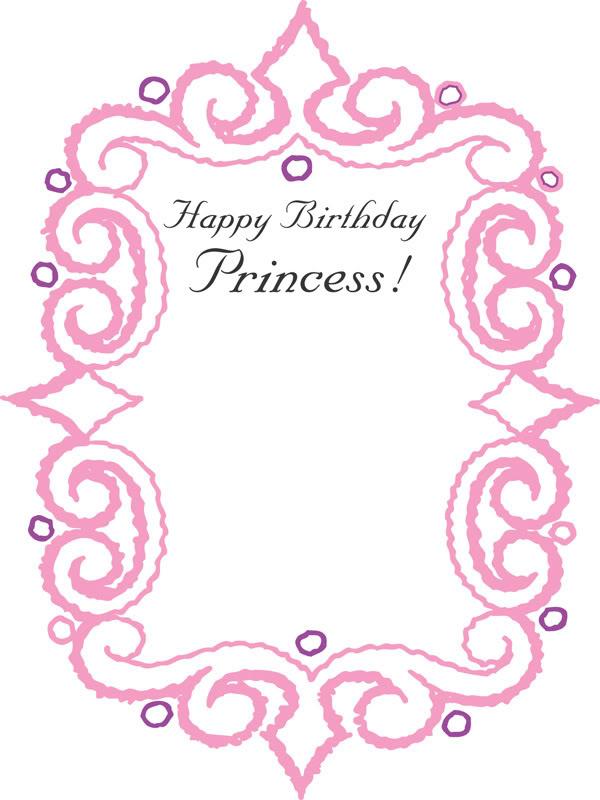 Happy Birthday Princess Clipart Clipart Kid – Princess Happy Birthday Cards