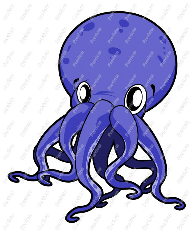 Octopus Cartoon Clip Art 805 Formats Included With This Octopus