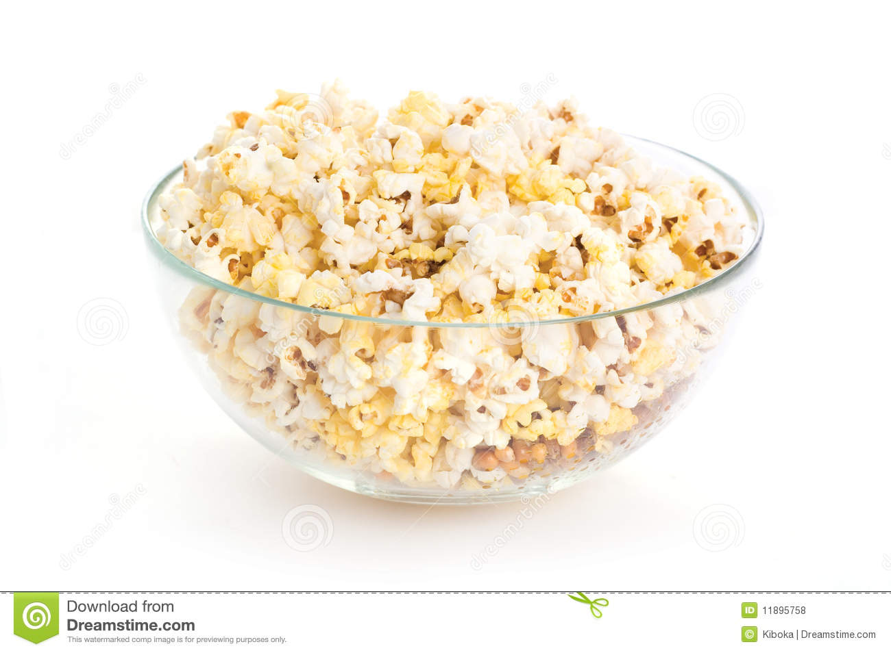 Popcorn Bowl Clipart Bowl Of Popcorn Isolated On