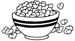 Popcorn Bowl Clipart Popcorn Positives  Display A
