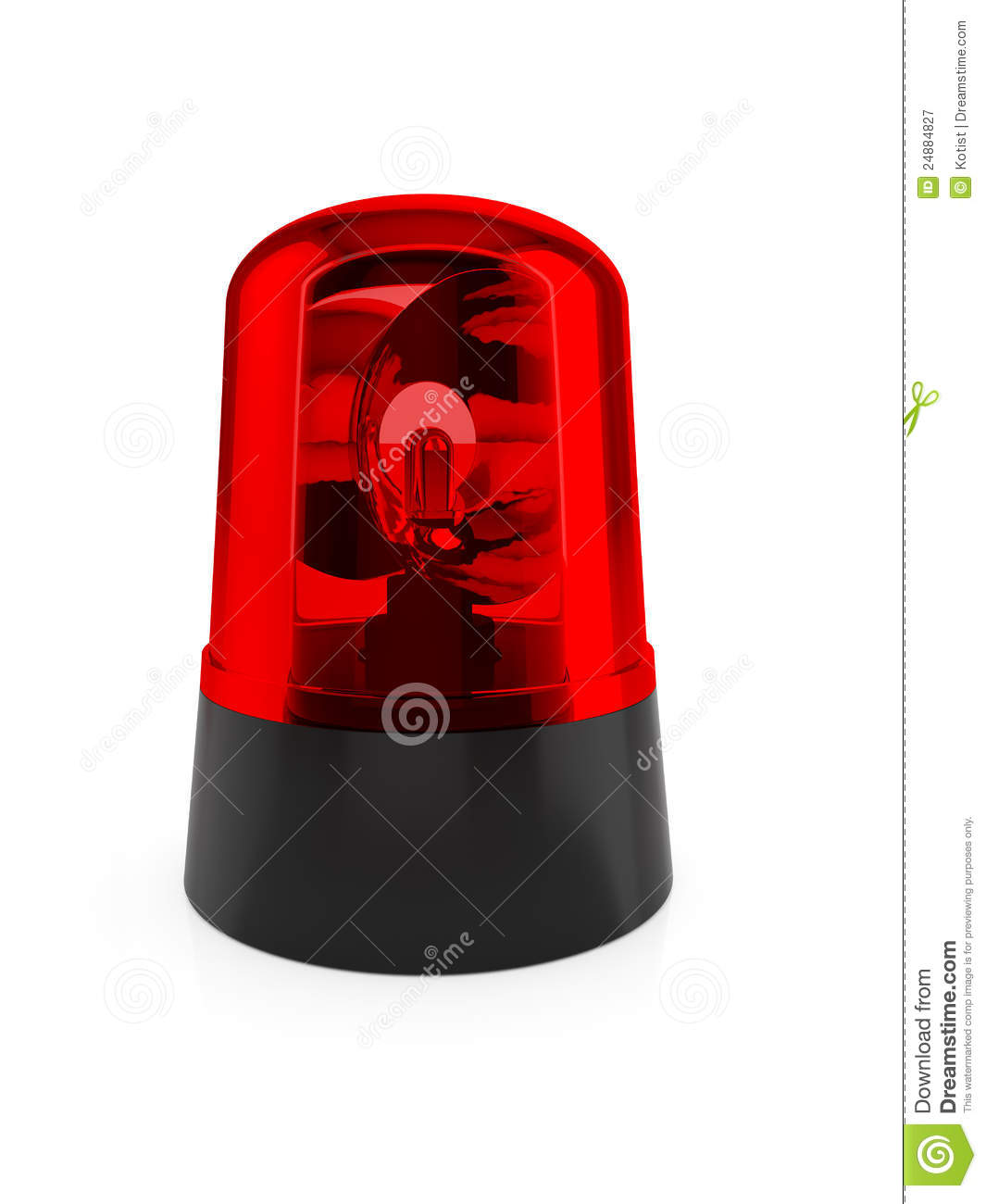 Red Flashing Light Royalty Free Stock Photography   Image  24884827