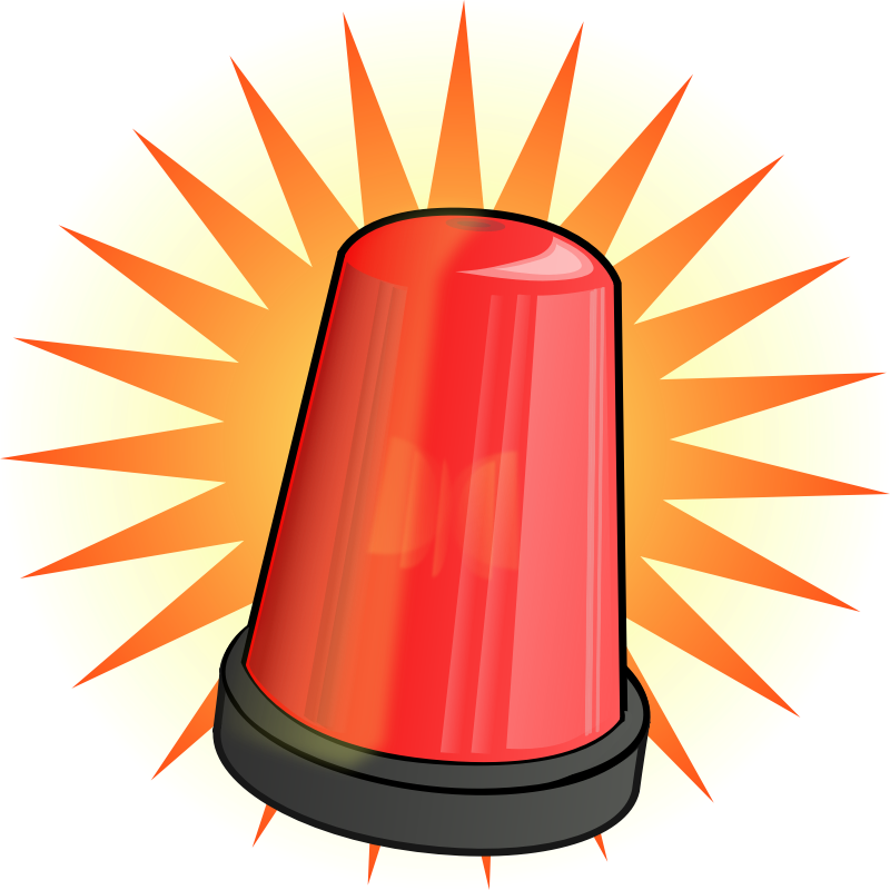 Red Flashing Light Clipart - Clipart Kid