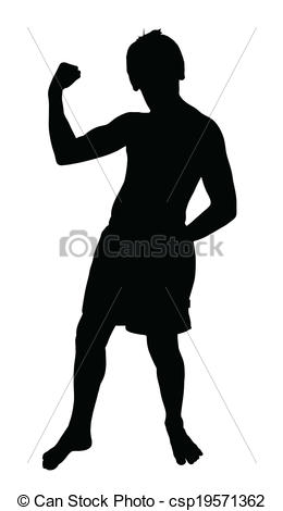 Teen Boy Silhouette    Csp19571362   Search Clipart Illustration