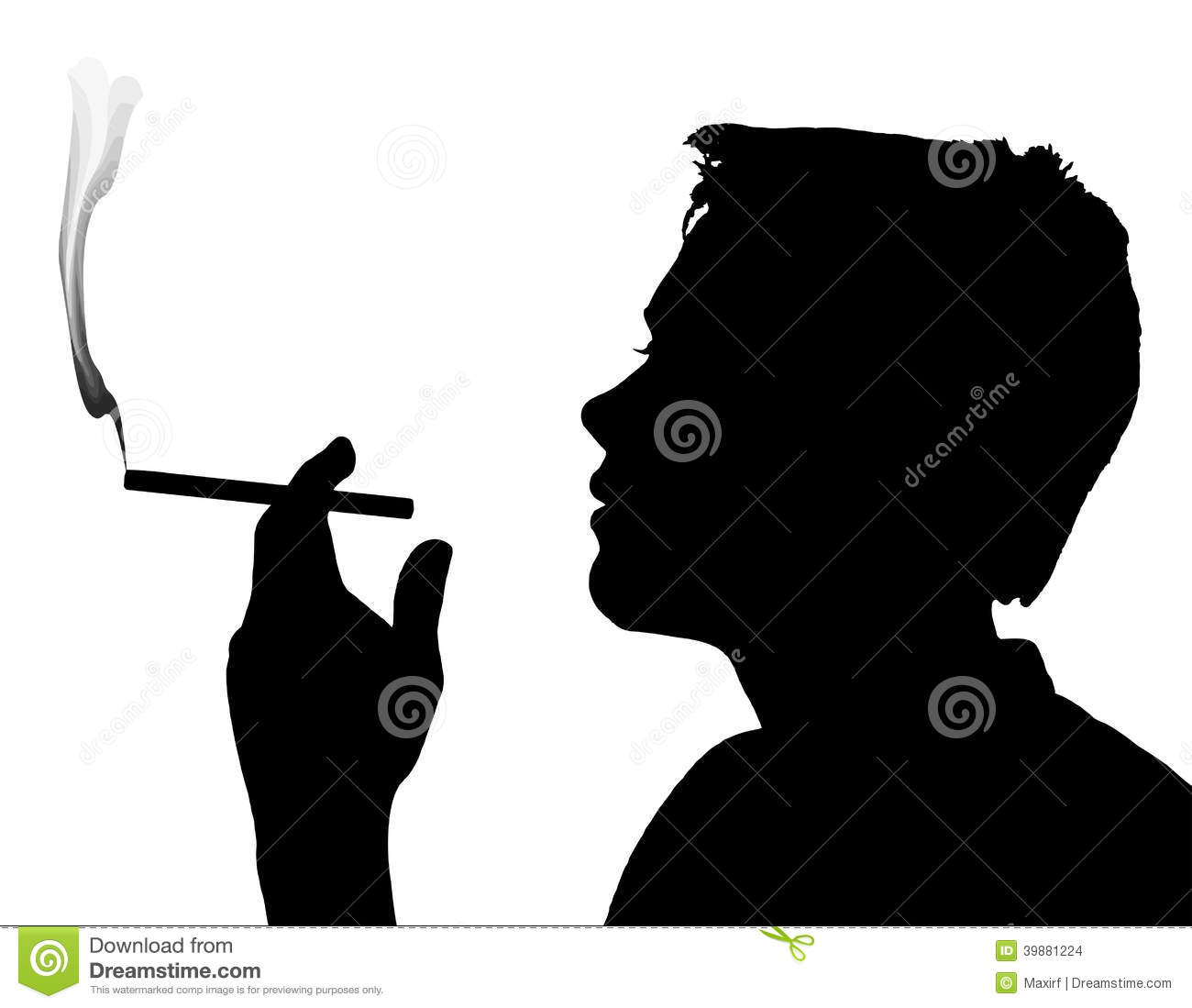 Teen Boy Silhouette Smoking Cigarette Stock Vector   Image  39881224