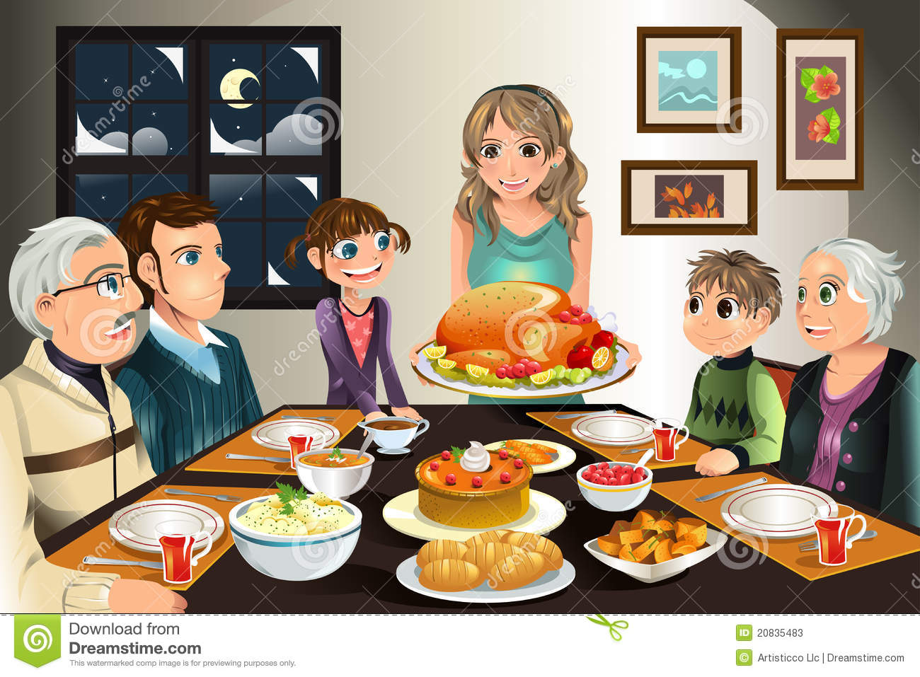 Thanksgiving Family Dinner Clipart Images   Pictures   Becuo
