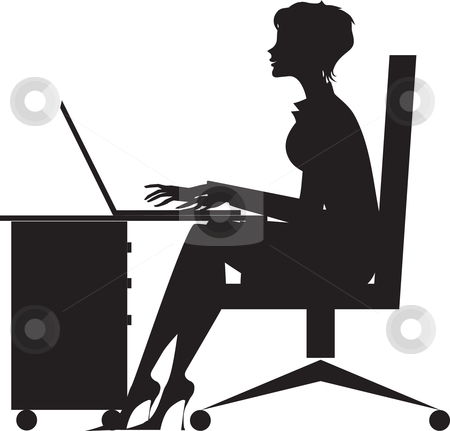 Working At Desk Clipart - Clipart Kid