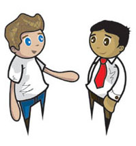 Two People Clipart - Clipart Kid