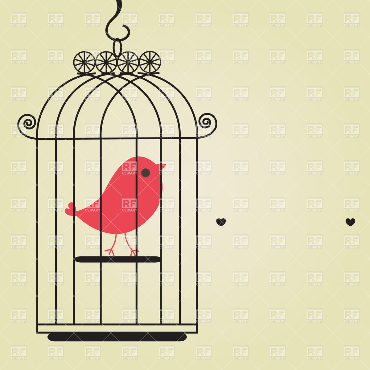 vintage bird cage clipart clipart suggest