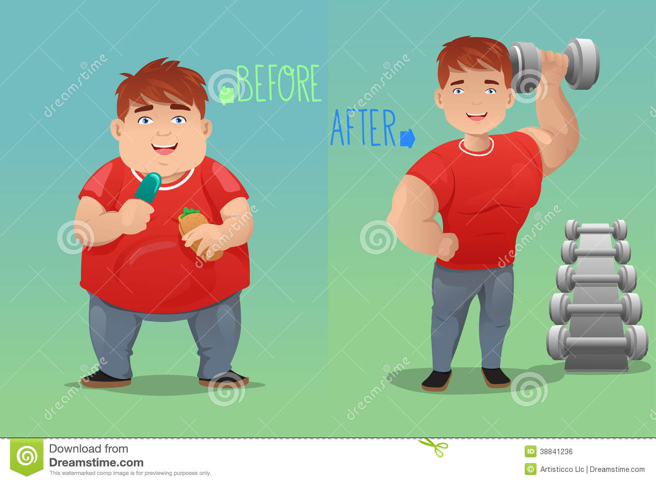 Before And After Weight Loss Clipart - Clipart Suggest
