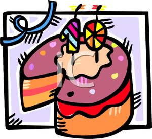 10th Birthday Cake   Clipart