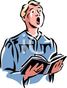 Boy Singing In A Church Choir   Royalty Free Clipart Picture