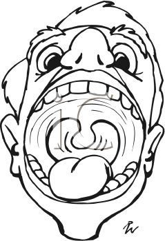 Boy With Big Mouth Opened Colouring Pages  Page 2