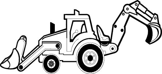 Construction Equipment Black And White Clipart - Clipart Kid