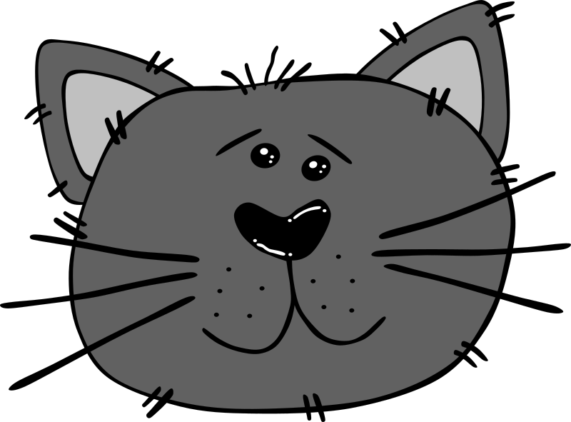 Cartoon Cat Face By Gerald G   Uploaded By World Label For