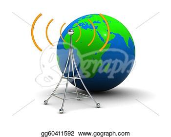 Clipart   Global Broadcasting  Stock Illustration Gg60411592