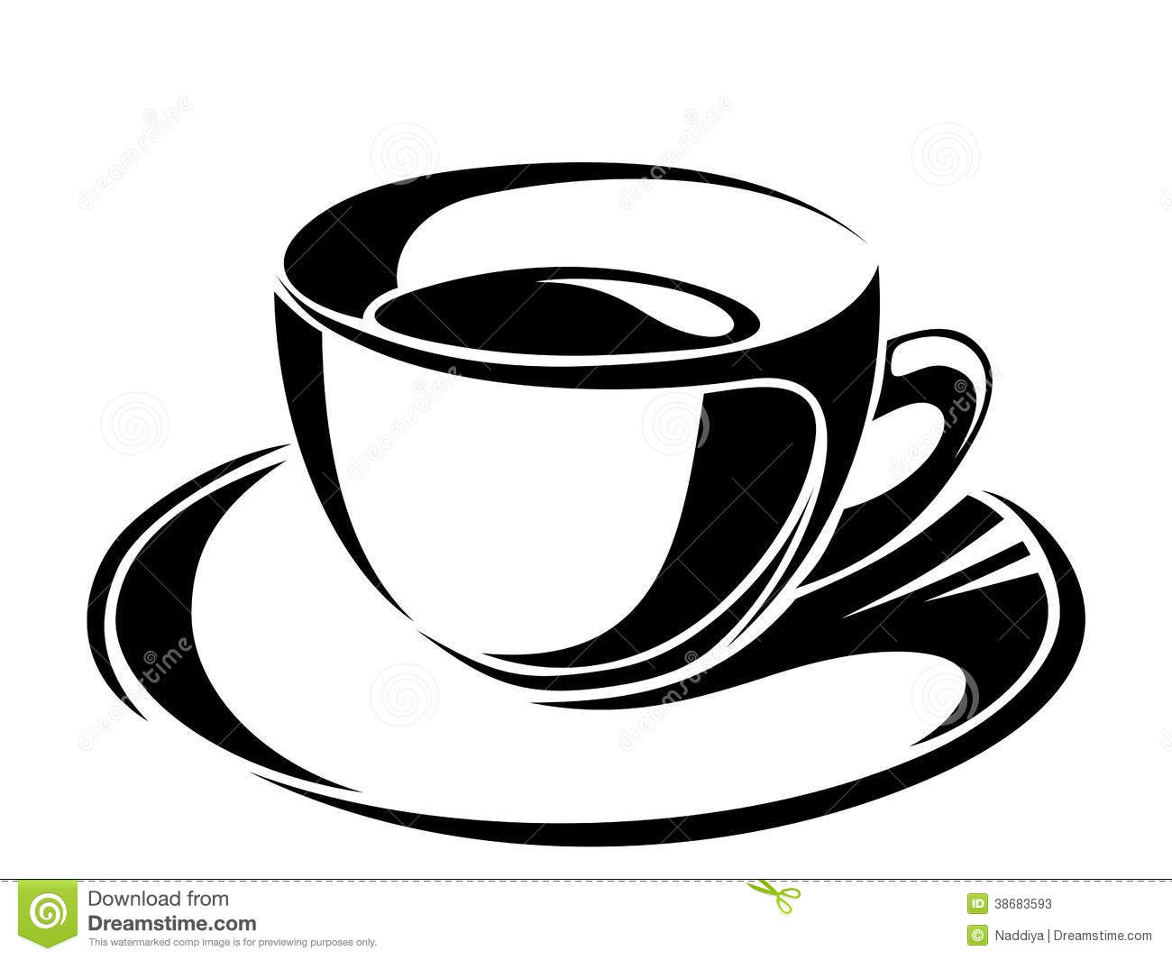 Cup Of Tea  Vector Black Silhouettes  Stock Photos   Image  38683593