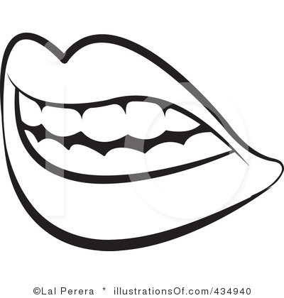 Open Mouth Black And White Clipart - Clipart Suggest