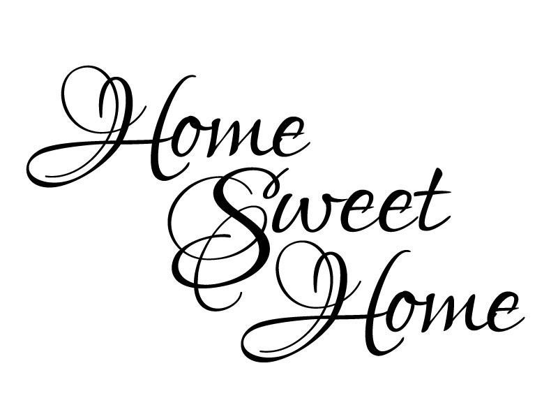 home sweet home black and white clipart clipart suggest. Black Bedroom Furniture Sets. Home Design Ideas