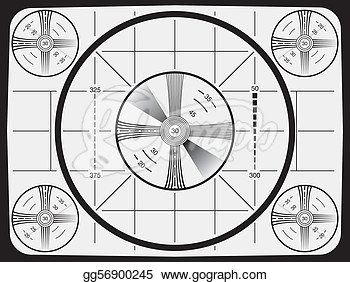 Illustrations   Television Test Pattern  Stock Clipart Gg56900245