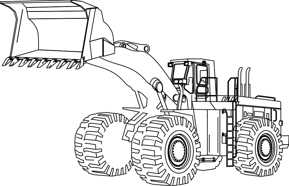 Construction Equipment Black And White Clipart - Clipart ...