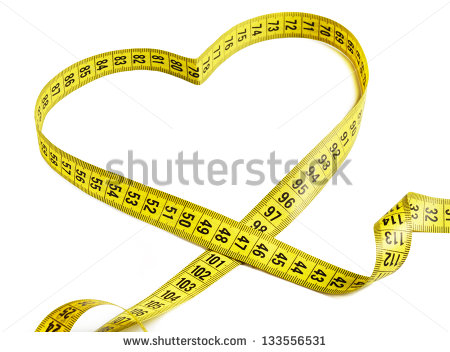 Measurement Tape Forming The Shape Of A Heart   Stock Photo