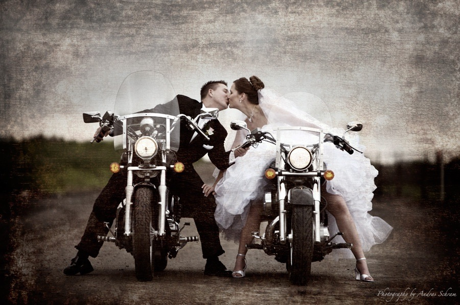 Motorcycle Wedding Clipart