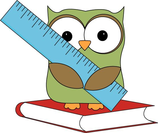 Owl Sitting On A Book With A Ruler    Owl Clip Art   Pinterest   Owl