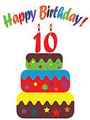 Tenth Birthday Illustrations And Stock Art  194 Tenth Birthday