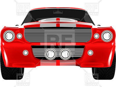 The Front Of A Red Car Royalty Free Clipart Picture Car Pictures
