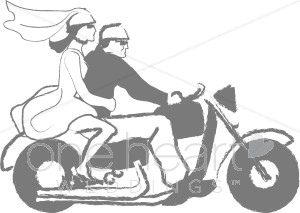 Motorcycle Wedding Clipart - Clipart Kid