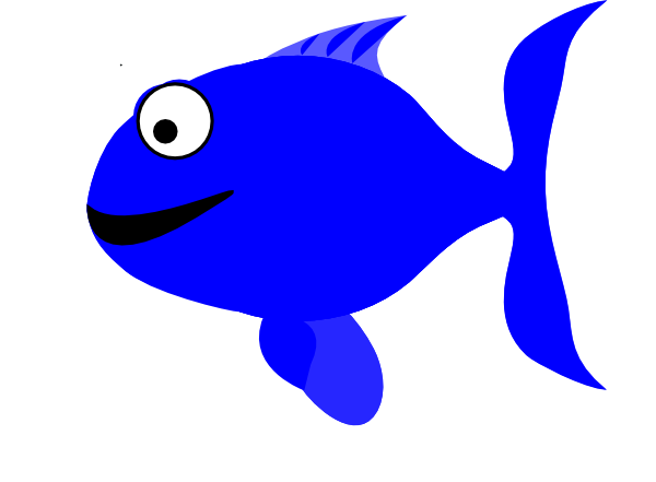 Blue Happy Fish Svg Downloads   Animal   Download Vector Clip Art