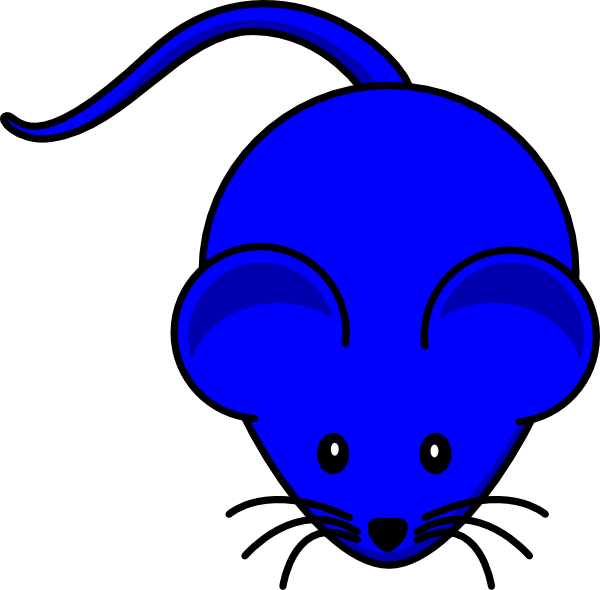 Blue Mouse Graphic Clip Art  Png And Svg