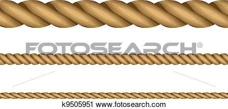 Clipart   Vector Illustration Of Ropes  Fotosearch   Search Clip Art