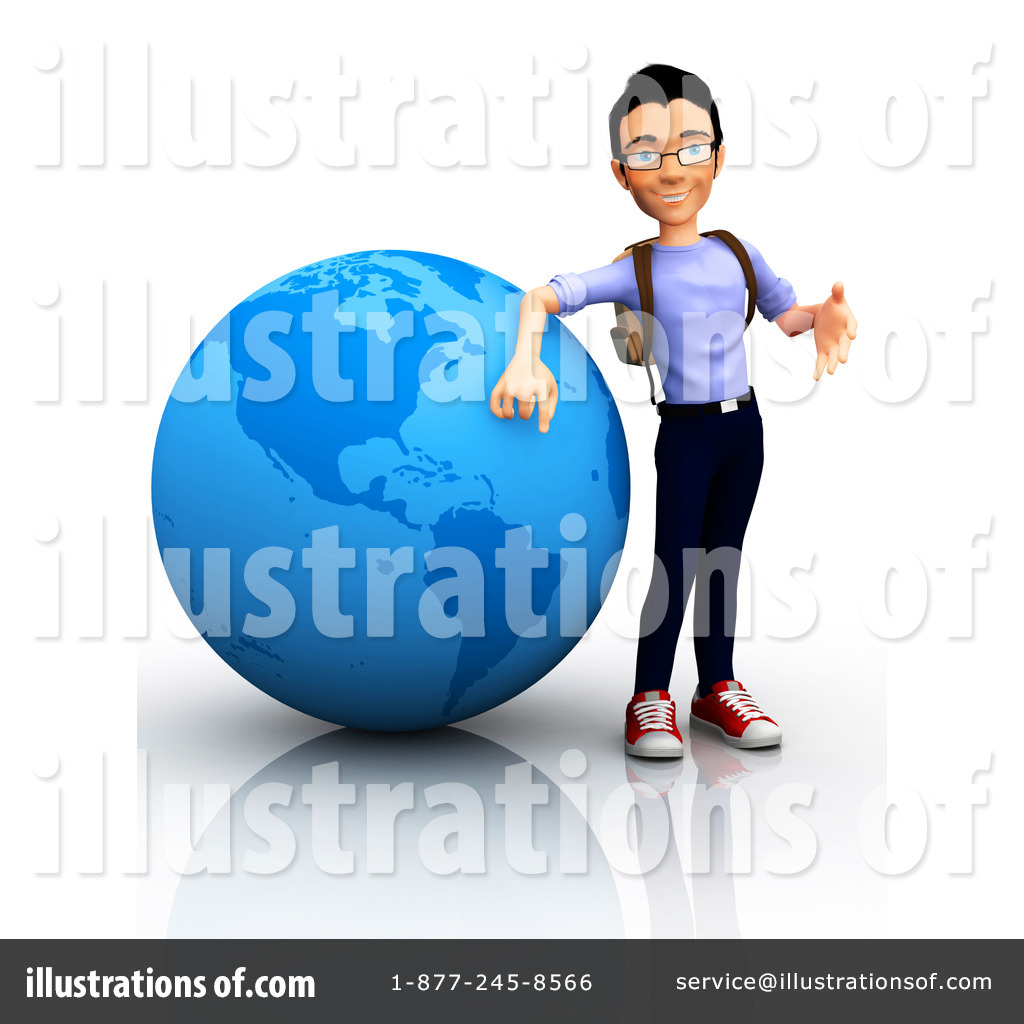 College Student Clipart  1088535 By Andresr   Royalty Free  Rf  Stock