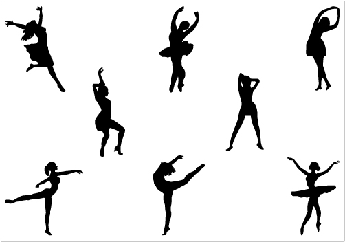 Dance Silhouette Vector Ballet Dance   Break Dance Silhouette