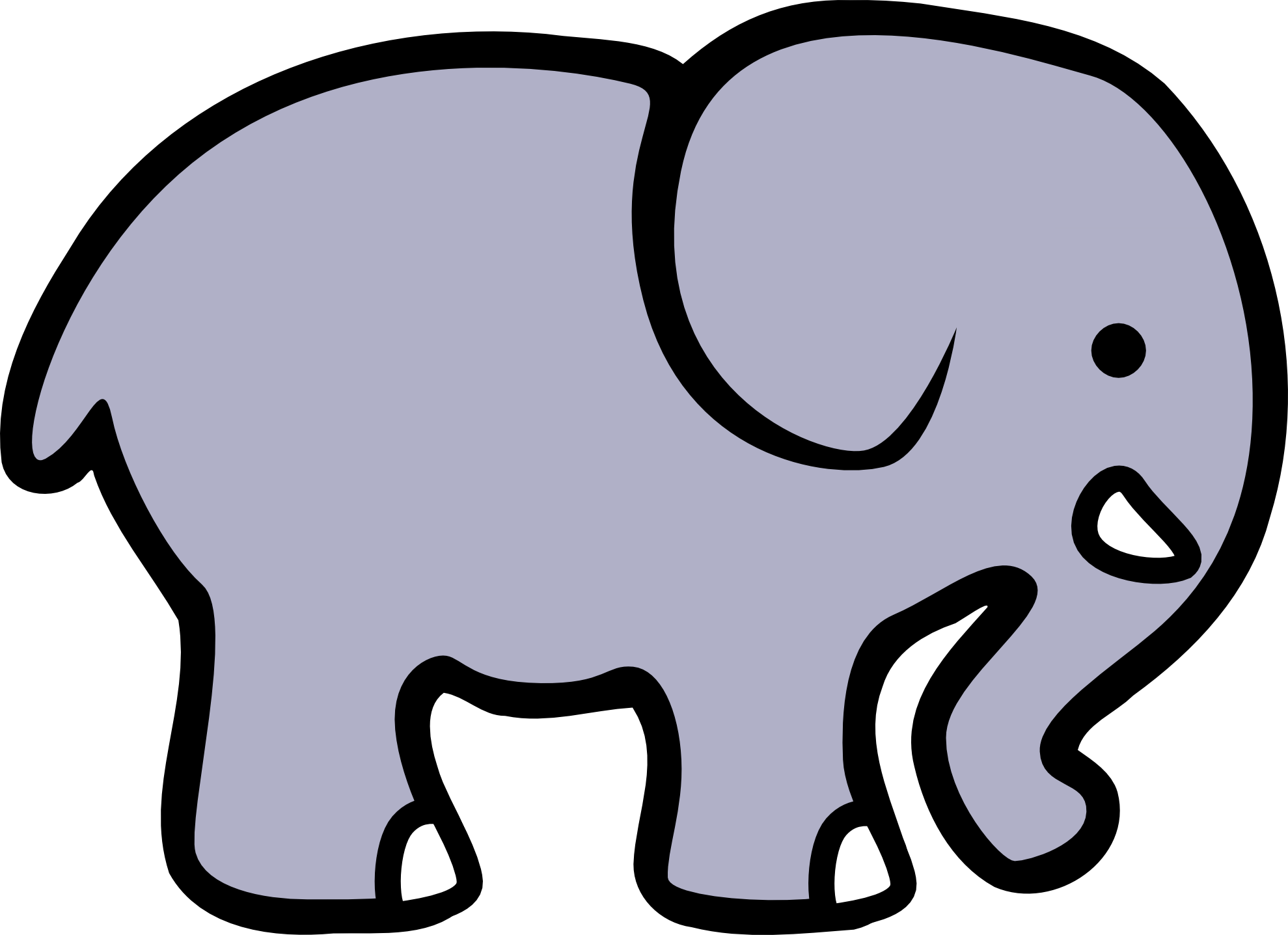 Elephant Clipart Black And White   Clipart Panda   Free Clipart Images