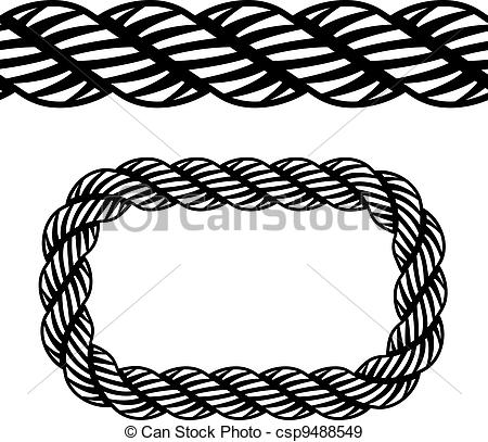 Eps Vectors Of Vector Seamless Black Rope Symbol Csp9488549   Search