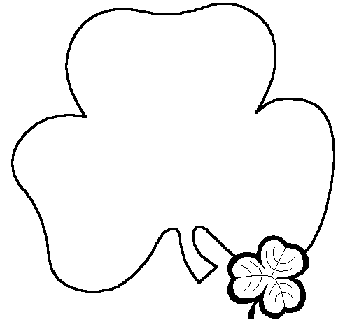 St Patrick's Day Black And White Clipart - Clipart Kid
