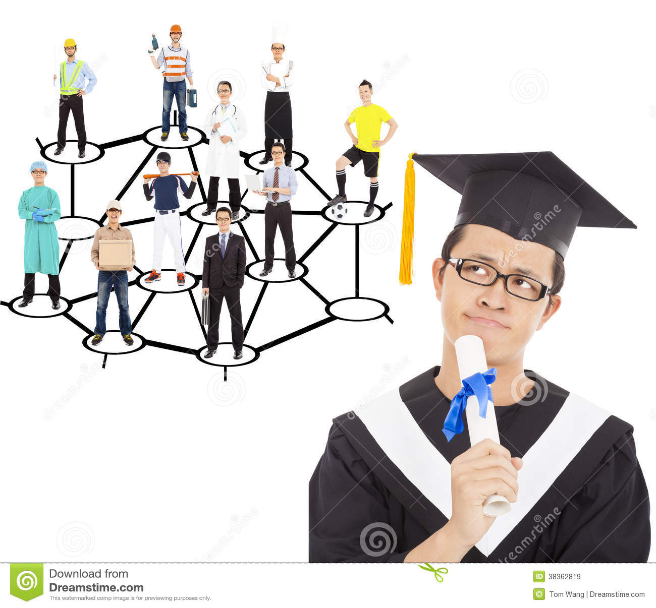 career planning clipart clipart kid graduate thinking about his career planning royalty stock images