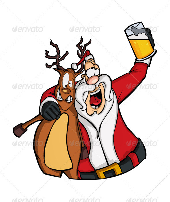 Drunk Santa Clipart - Clipart Kid