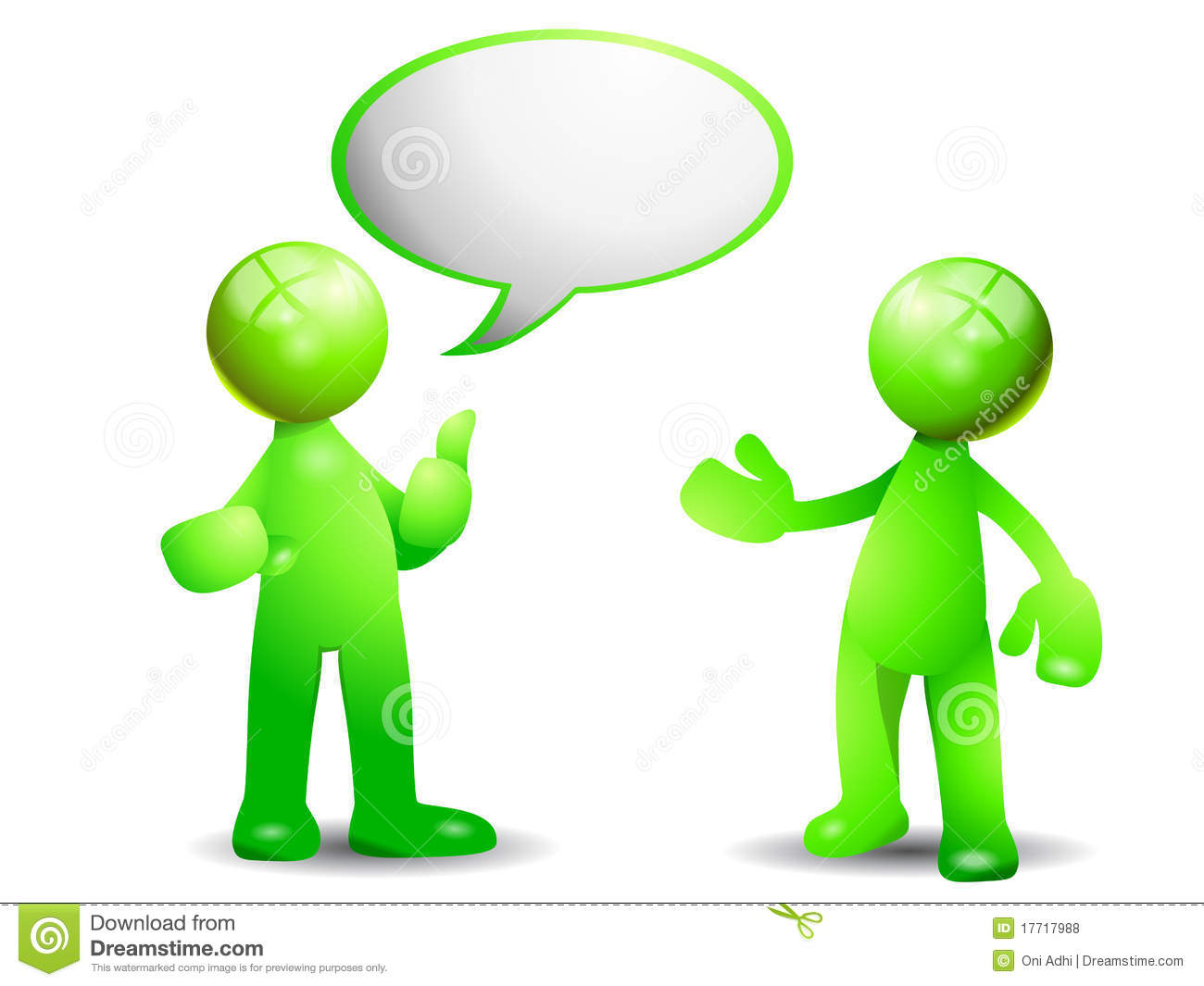 Green Conversation Royalty Free Stock Photos   Image  17717988